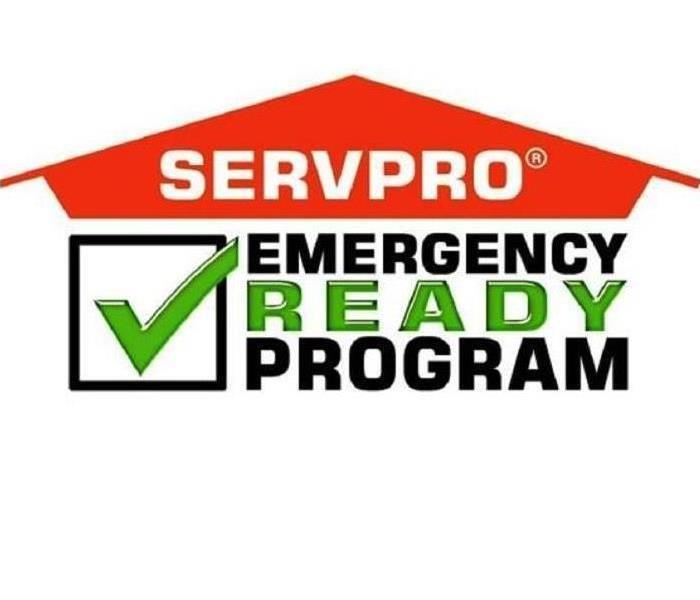 "Orange SERVPRO house over the words ""emergency ready program"""